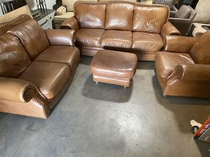 Leather Sofa, Loveseat and Chair GORGEOUS for Sale in Phoenix, AZ