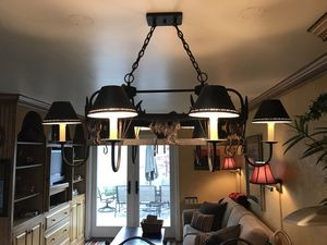 Light fixture metal, rustic, French country for Sale in Los Angeles, CA