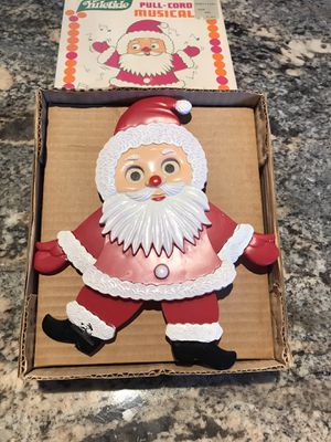 1960 Vintage Yuletide Santa Claus pull cord Musical Christmas Song Jingle Bells for Sale in Mount Holly, NJ