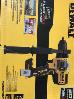 Dewalt 20-Volt MAX Brushless Cordless 1/2 in. Hammer Drill/Driver with FLEXVOLT ADVANTAGE with battery and Fast Charger for Sale in Windsor Mill,  MD
