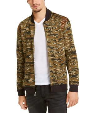 INC International Concepts Men's Vices Abstract Camouflage Print Bomber Jacket, Green, XX-Large for Sale in Norfolk, VA