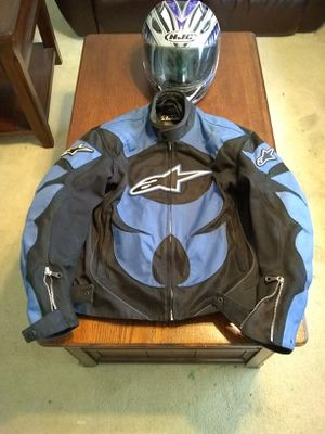 Motorcycle jacket and helmet for Sale in Oakwood Hills, IL