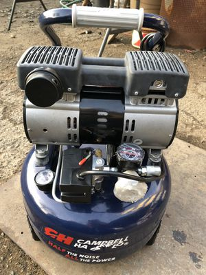 Campbell Hausfeld 👉Quiet 👈🏿. Air Compressor, 6-Gal for Sale in Modesto, CA