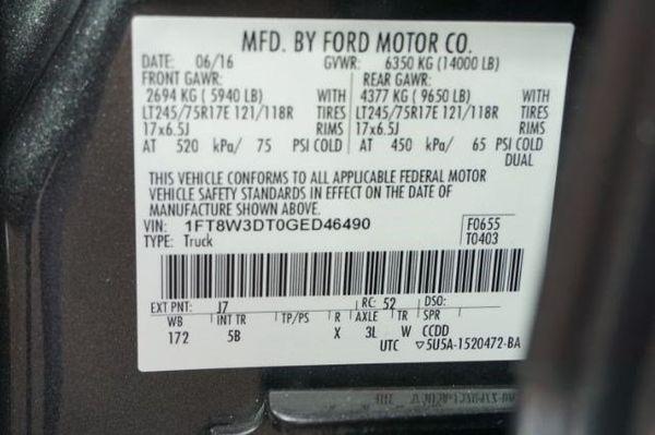 2016 Ford Super Duty F-350 DRW
