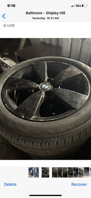 BMW 4 tire and rims for Sale in Baltimore, MD