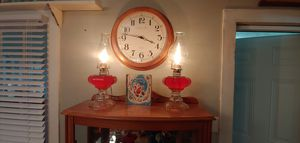 Electrified Vintage Oil Lamps for Sale in Selma, NC