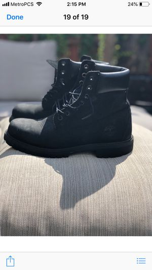 All black timberlands size 8 for Sale in Philadelphia, PA