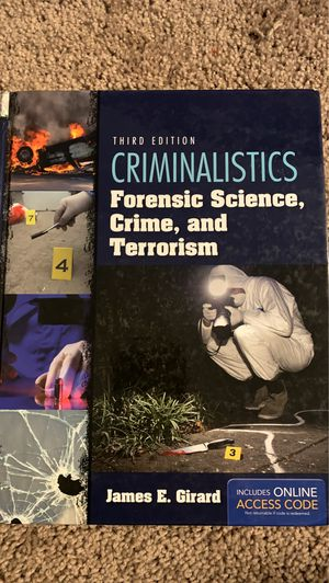 Criminalistics: Forensic Science, Crime, and Terrorism Textbook for Sale in Phoenix, AZ