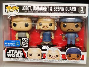 Funko Pop! Star Wars Lobot, Ugnaught, Bespin Guard, 3 pack for Sale in Fresno, CA