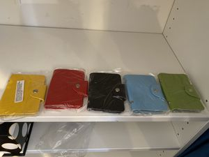 5 colored wallet inserts w 10 clear pages for Sale in Philadelphia, PA