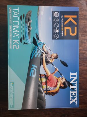 Intex Tacoma K2 2 person Inflatable Kayak for Sale in Raleigh, NC