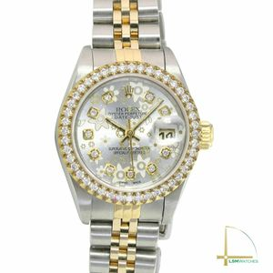 Rolex Lady Datejust 69173 26mm Two-Tone Watch Silver Floral Diamond Dial & Bezel for Sale in Los Angeles, CA