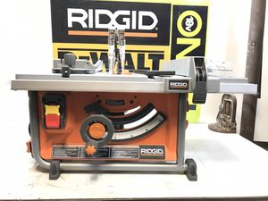 RIDGID 15 Amp Corded 10 in. Compact Table Saw with Carbide Tipped Blade and Folding X-Stand for Sale in Bakersfield, CA