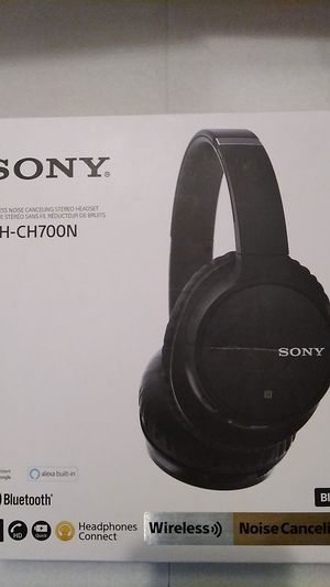 Sony WH-CH700N Bluetooth Noise Canceling Wireless Headphones - Black for Sale in Tolleson, AZ