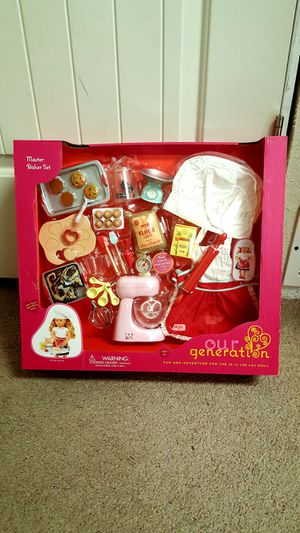 Our Generation doll baking set for Sale in Spanaway, WA