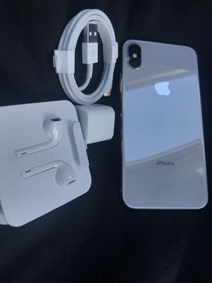 Factory unlocked apple iPhone 10 works any carrier like new I can deliver for Sale in Fremont, CA