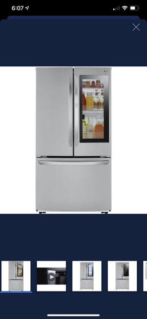 Lg insta-view 27cu-ft refrigerator for Sale in Gilroy, CA