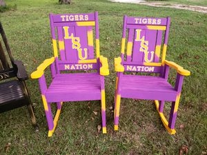 LSU and SAINTS ROCKER 125 EACH for Sale in Baton Rouge, LA