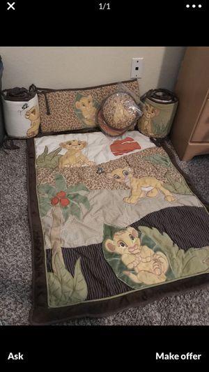 Lion king crib set for Sale in DW GDNS, TX