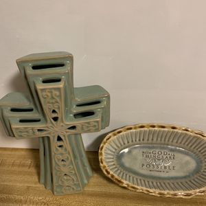 Dynamic Cross And Scripture Dish Duo for Sale in Norcross, GA