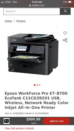 EPSON PRINTER WF PRO ET-8700 for Sale in HUNTINGTN BCH, CA