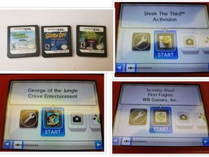 Nintendo DS Games x3 Tested & Working + Case Shrek George Scooby for Sale in Chattanooga, TN