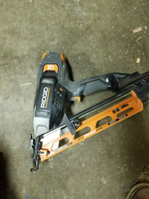 Ridgid Cordless nail gun 15ga for Sale in Madison Heights, MI