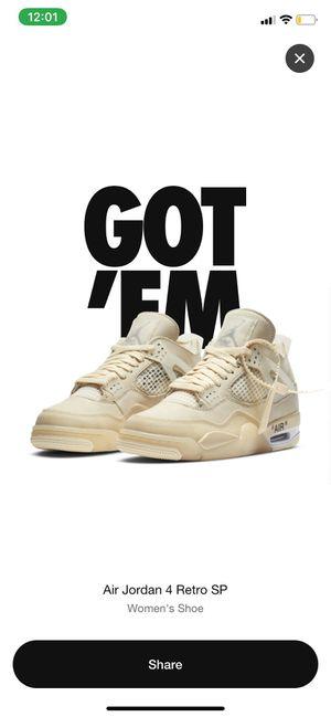 Nike Off White Air Jordan 4 Size 9W/7.5M for Sale in Pasadena, CA