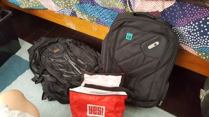 Black backpacks, lots of pickets (laptop, cycling/biking) for Sale in Los Angeles, CA