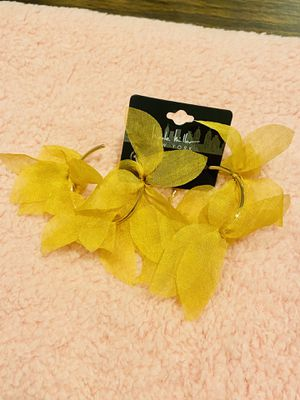 Fashion earrings yellow fashionable jewelry for Sale in Bellflower, CA