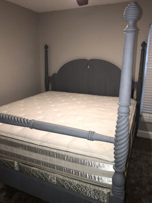 Like brand new king size bed includes mattress and box spring , very clean I can deliver it for Sale in Tampa, FL