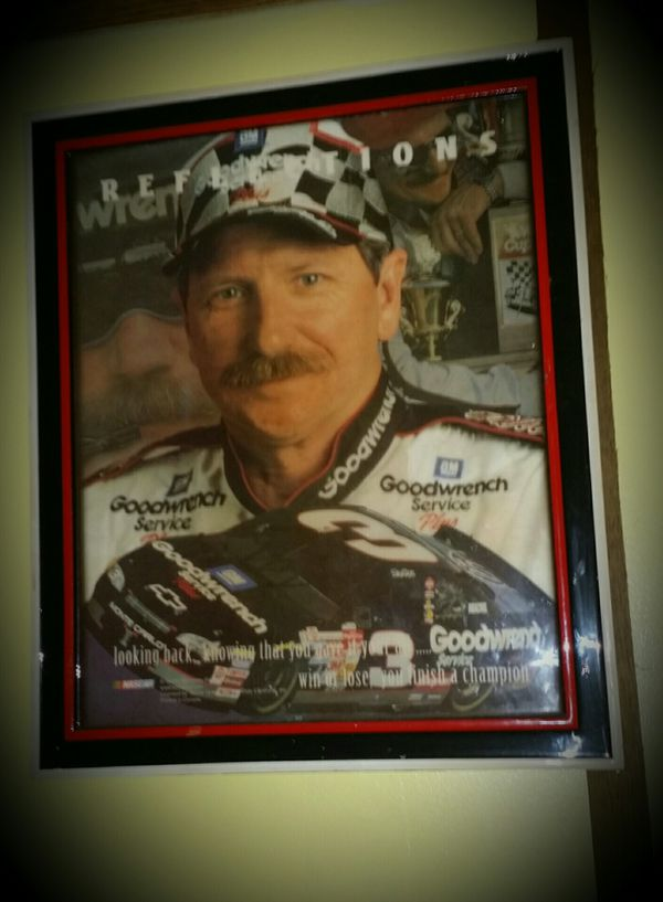 Dale sr collectors framed picture