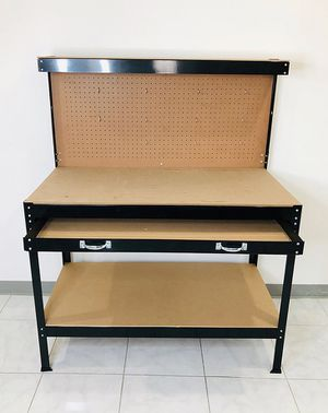 "(Refurbished) $45 Workbench Tools Table Home Work Shop Storage Bench 47x24x58"" for Sale in Pico Rivera, CA"