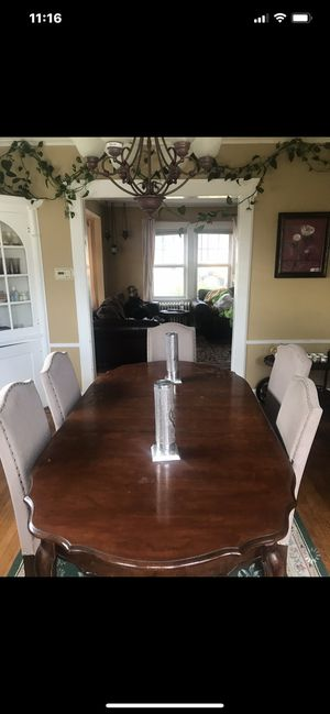 Dining table with five chairs Dining buffet table Coffee tray Plant. Pick up only cash only for Sale in Elizabeth, NJ