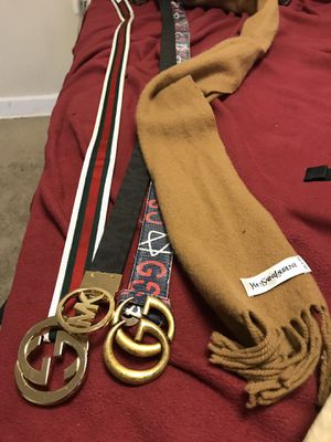 3 belts & ysl scarf for Sale in Washington, DC