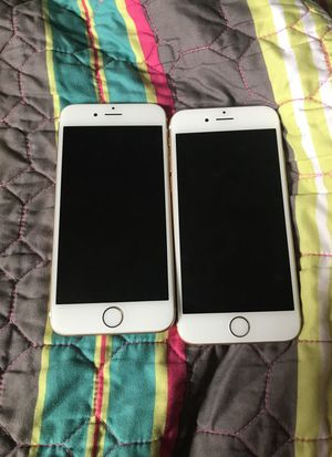 2 iphone 6 one is a regular iphone 6 and one is a iphone 6s there both icould locked just lookin for 50 bucks each for Sale in Orlando, FL