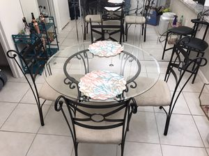 Glass Top Kitchen Table for Sale in Palm City, FL