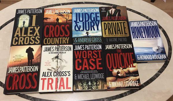 9 James Patterson hard bound books