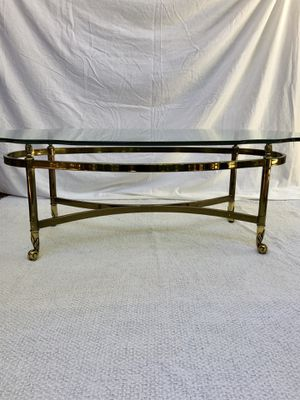Hollywood Regency Coffee Table with Beveled Glass Top for Sale in Los Angeles, CA