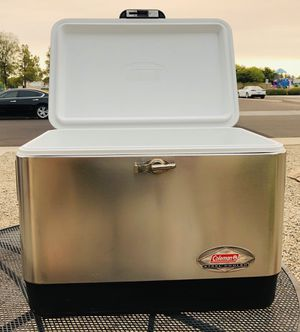 Coleman 100 year anniversary stainless steel cooler excellent condition Bell road and 35th Ave. for Sale in Phoenix, AZ