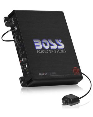 BOSS Audio Systems R1100M Monoblock Car Amplifier - 1100 Watts Max Power, 2/4 Ohm Stable, Class A/B, Mosfet Power Supply, Remote Subwoofer Control for Sale in North Providence, RI