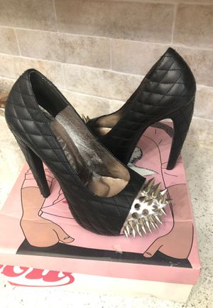 Jeffrey Campbell black silver spikes high heels size 5.5 6 for Sale in Las Vegas, NV