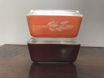 Vintage Pyrex 502 Autumn Wheat Refrigerator Dish Set with Lids for Sale in Renton,  WA