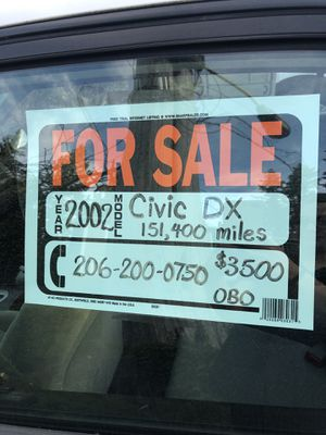 Honda Civic 2002 for Sale in Duvall, WA