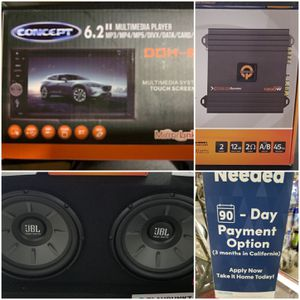 """6.2"""" Concept Stereo with Mirror Link & JBL Subwoofer System with Free Installation for Sale in Las Vegas, NV"""