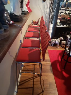 5 Red barstools new had them for a while buy new. Never used for Sale in Glendale, AZ