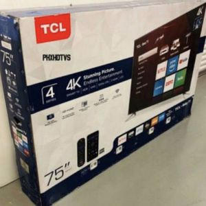 "75"" TCL Roku Smart 4K Led Uhd Hdr Tv for Sale in Fontana, CA"