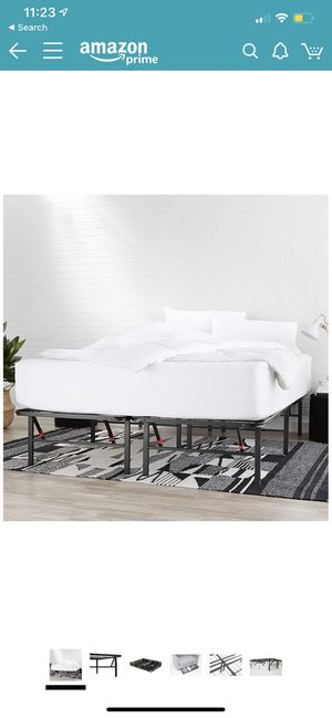 FULL SIZE bed frame (no box spring needed) for Sale in Sunnyvale, CA