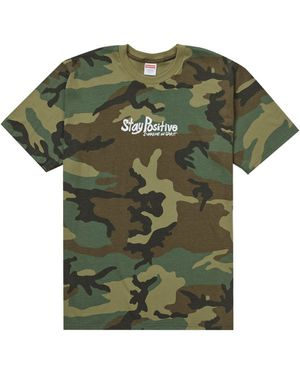 Supreme stay positive camo tee sz M for Sale in Burleson, TX
