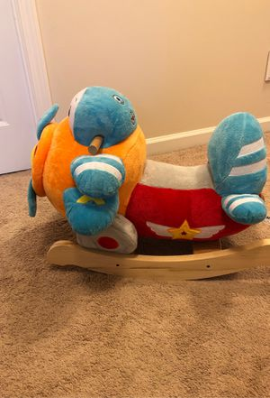 Toy RockAbye kids airplane rocker for Sale in Mount Holly, NC